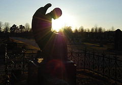 Photo: Angel in Sunset